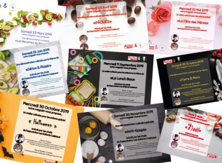 Planning en image, ateliers et démonstrations, Auchan Leuville-sur-Orge