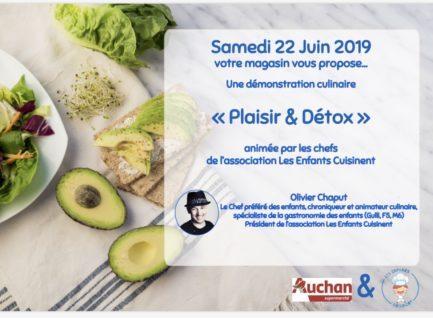 Plaisir et Détox…démonstration culinaire-Auchan Leuville-sur-Orge